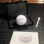 SOLD T-228 4-DIMENSIONAL TRUNK — Very nice with real pro Titleist golf ball, wood tee and special Funstuffonly card, repro instructions. $25 SOLD