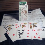 SOLD Small Box Tenyo Card Tricks —Really nice gimmicked cards with fully illustrated Japanese Instructions. $7 SOLD