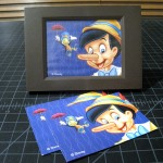 T-233 ANIMATION FRAME ***Incomplete*** This is for someone who already has the English version that has the non-Disney graphics but would like to perform the trick with the true Pinocchio & Jiminy Cricket. This does not come with the necessary red pouch so don't buy this if you do not already have the English version. $20