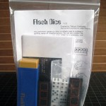 SOLD FLASH DICE and TOWER OF DICE Combo — Like New without package and repro English instructions for both. Dice are the same size and can be interchanged for a combination routine. $25 SOLD