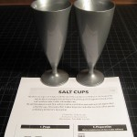 SOLD T-203 SALT CUPS — Like New, no package, repro English Instructions. You have to provide your own white silk. $20 SOLD