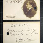Front and back of card provided with Houdini Lock-Up