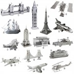 Some of the many nano metal models that Tenyo sells.