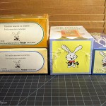 The Tenyo Happy Rabbit Logo on various Tenyo Boxed Tricks