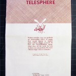 T-127 Telesphere Instructions Booklet with the Tenyo Dapper Rabbit Logo